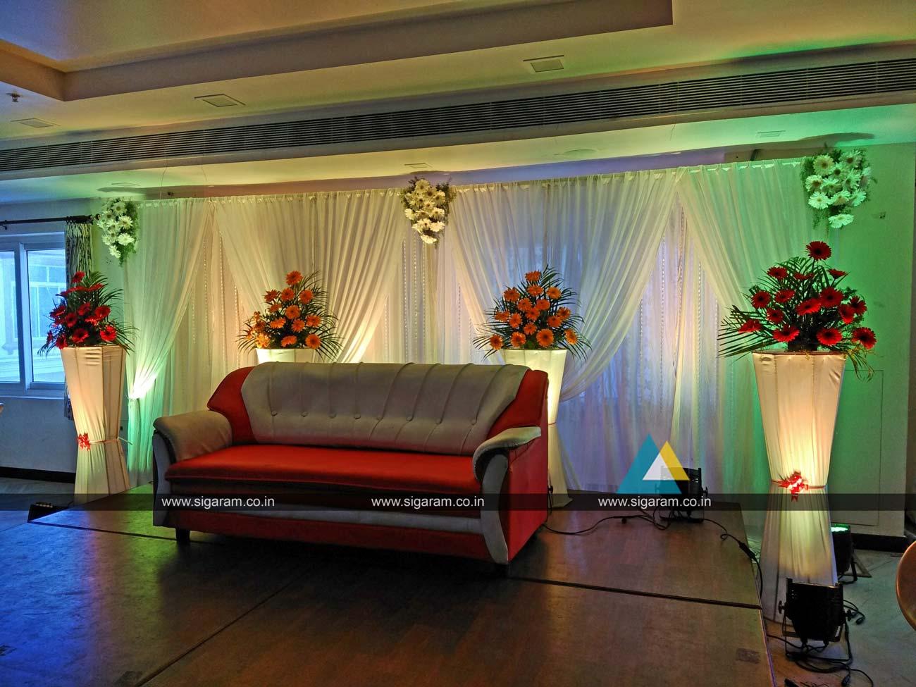 Wedding Reception Decoration At Hotel Ungal Vasanta Bhavan ECR Pondicherry Wedding