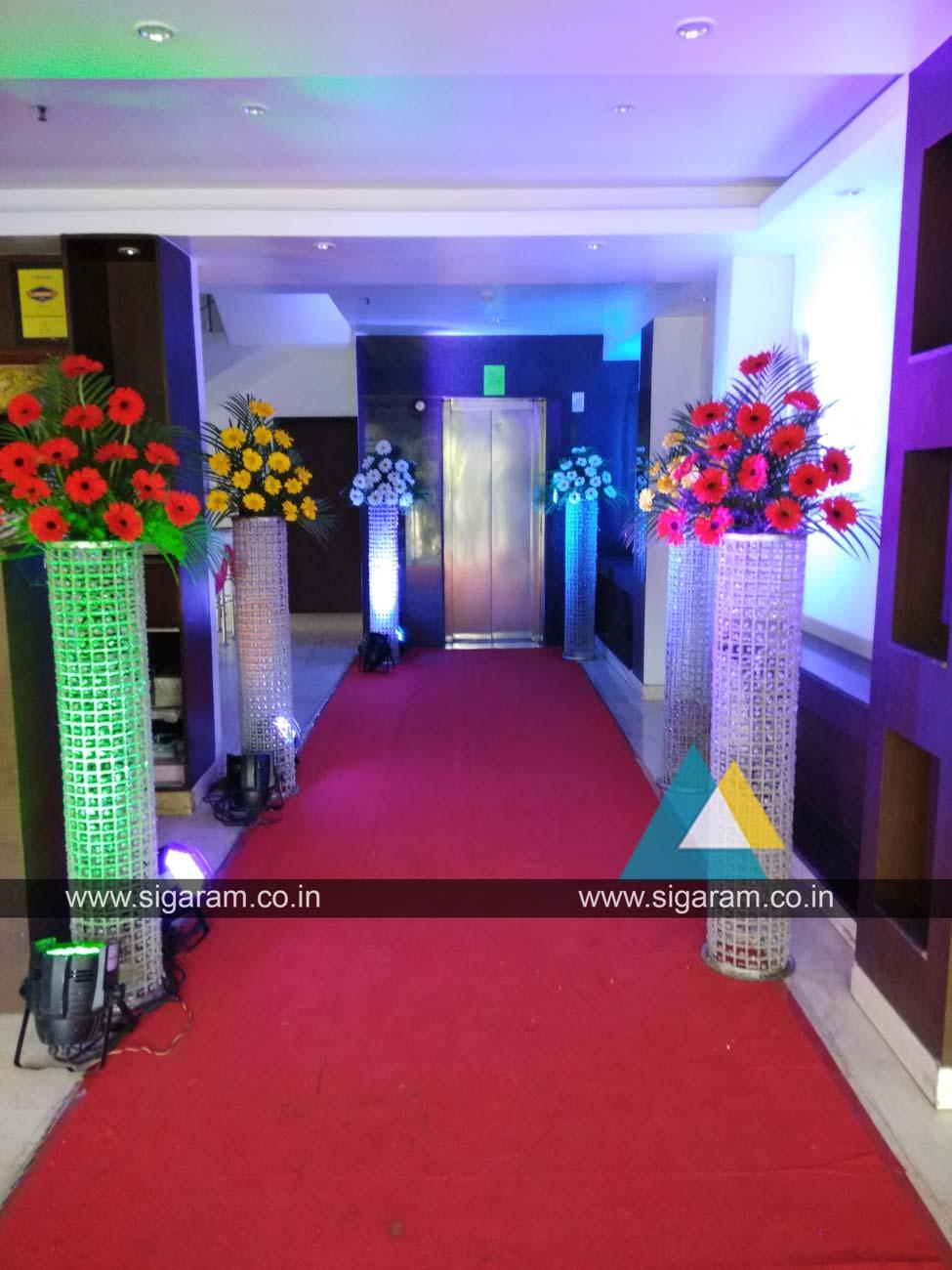Wedding Reception Decoration At Hotel Ungal Vasanta Bhavan Ecr