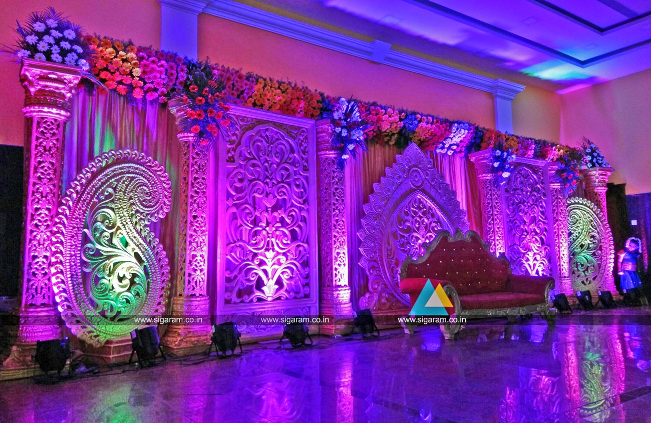 Reception and wedding decoration shri lalitha mahal for Stage decoration