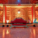 Reception stage Decoration @ D.P. Saraswathi Thirumana Mahal, Pondicherry