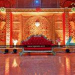 Reception stage Decoration @ D.P. Saraswathi Thirumana Mahal, Pondicherry