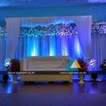 Outdoor Reception stage decoration at Hotel Ashoka , Egmore, Chennai