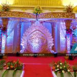 Reception Stage decoration at Jayaram Thirumana Nilayam, Pondicherry
