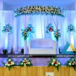 Reception stage decoration at Sri SaiRam mahal, ECR, Thenpakkam, Tamilnadu