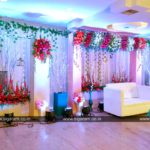 Reception Stage decoration at Kalaignar Arivalayam, Villupuram