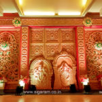 Wedding stage decoration at Atithi Hotel Puducherry