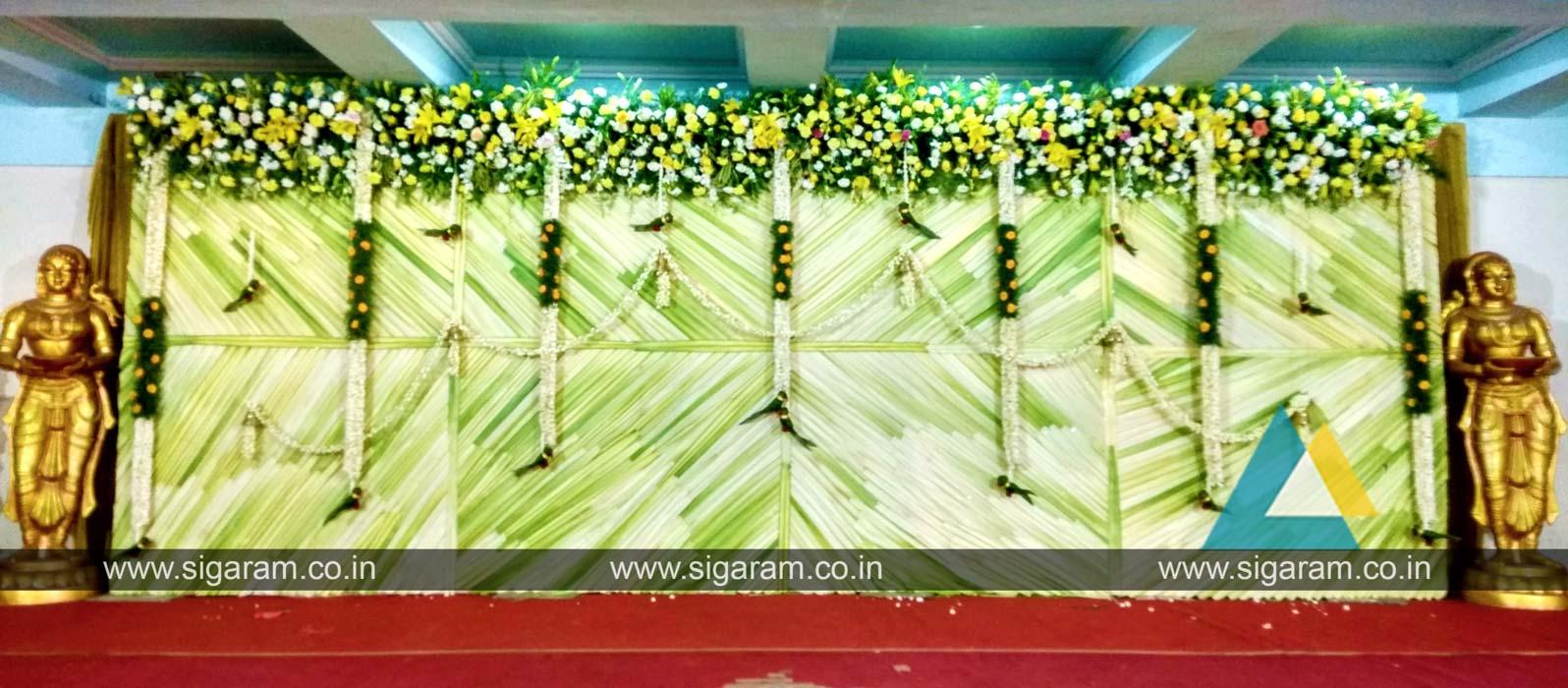 Coconut leaf decoration archives sigaram wedding decorators junglespirit Image collections