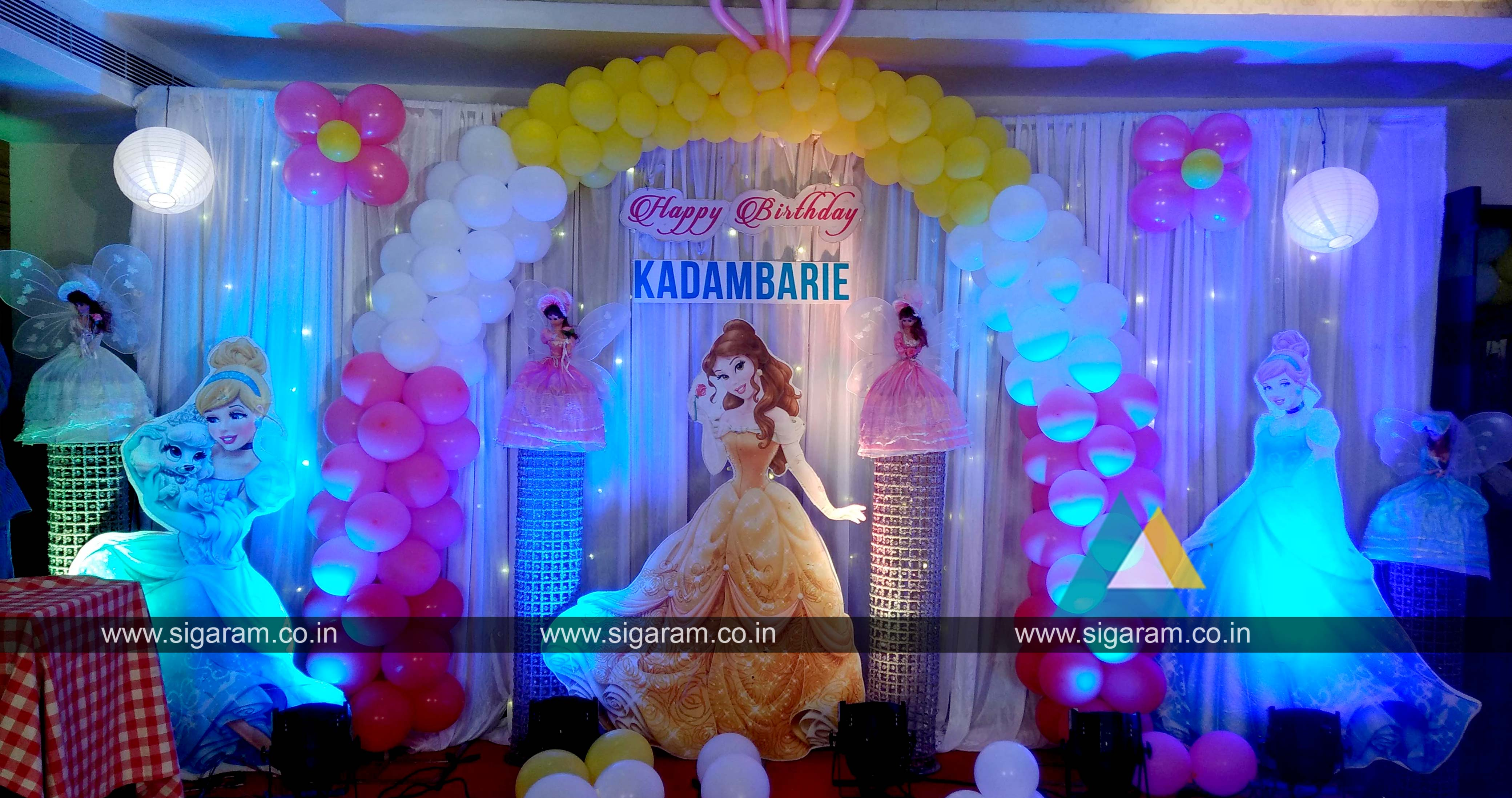 Decoration For Birthday Party At Home Images Princess Themed Birthday Balloon Decoration At Abirami
