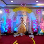 Princess themed birthday balloon decoration at Abirami Residency, Pondicherry