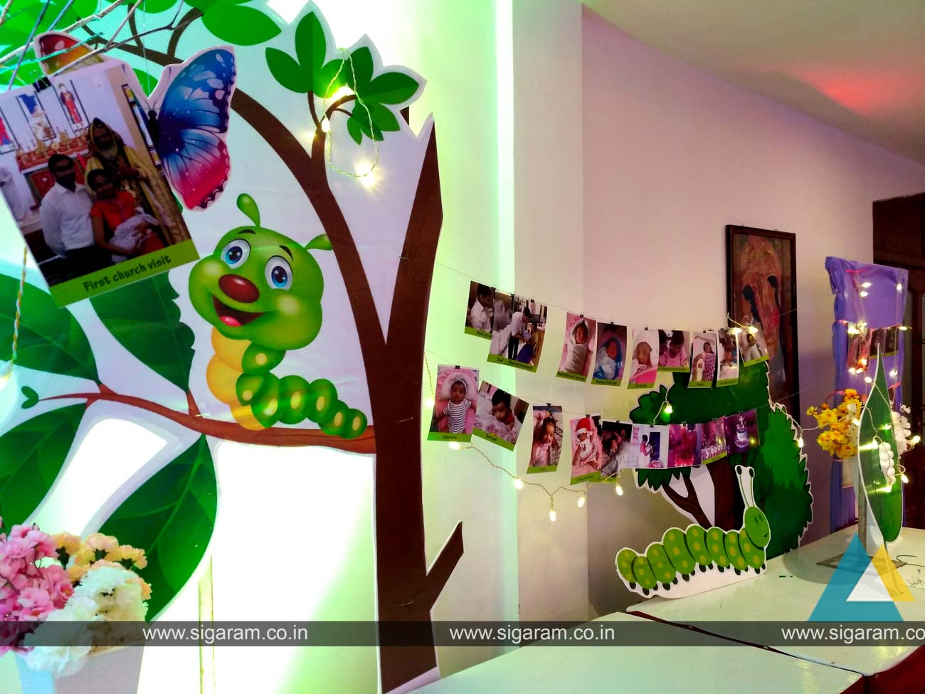 Butterflies Themed Birthday Decoration at Ashok Beach Resort