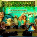 Jungle Themed Birthday Balloon Decoration at Viruthachalam