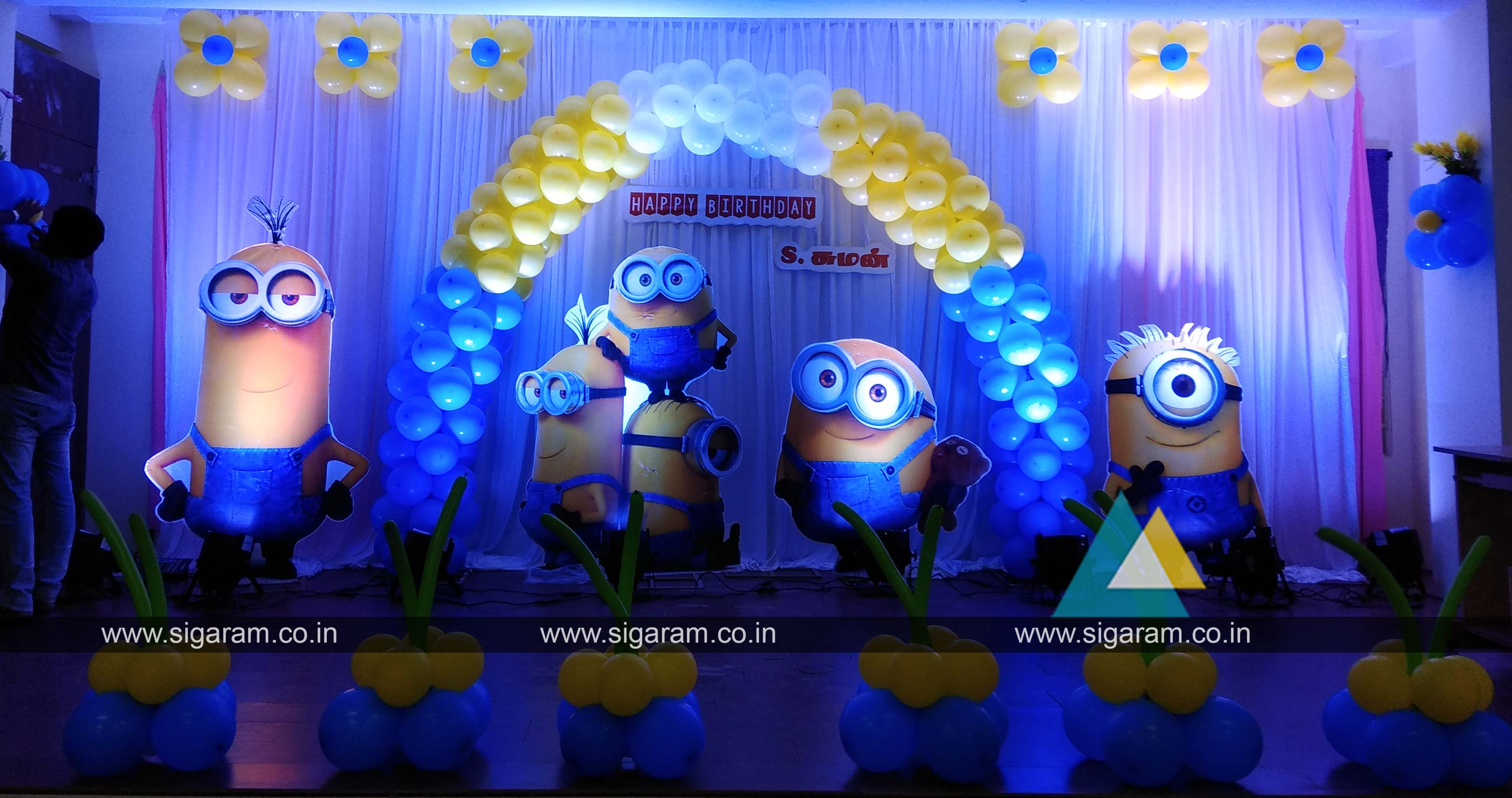 Minions Theme Birthday Decoration Sougan Hall Pondicherry 1