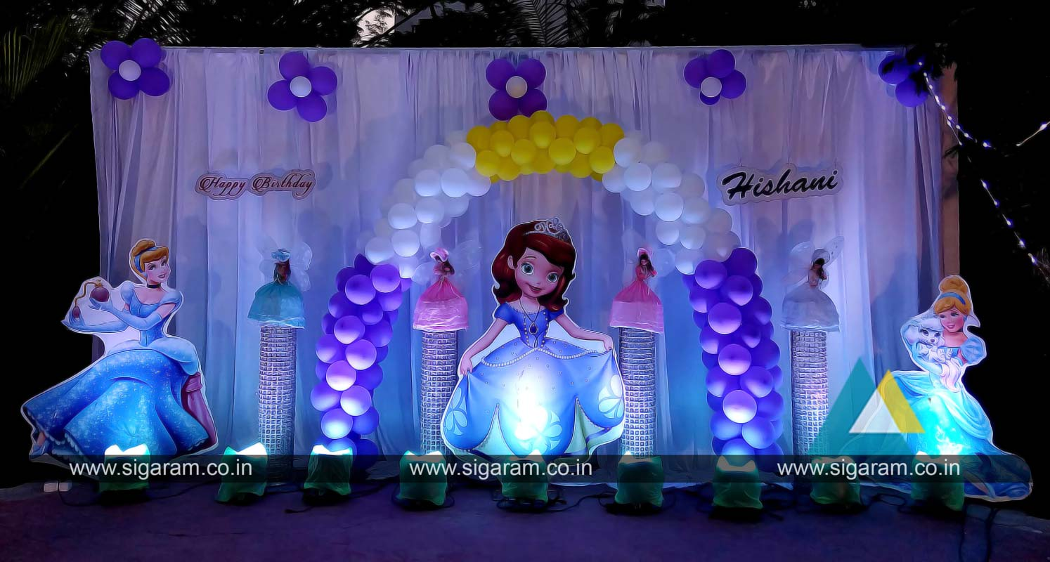 Outdoor Birthday Party Decoration At Hotel Bonsejour