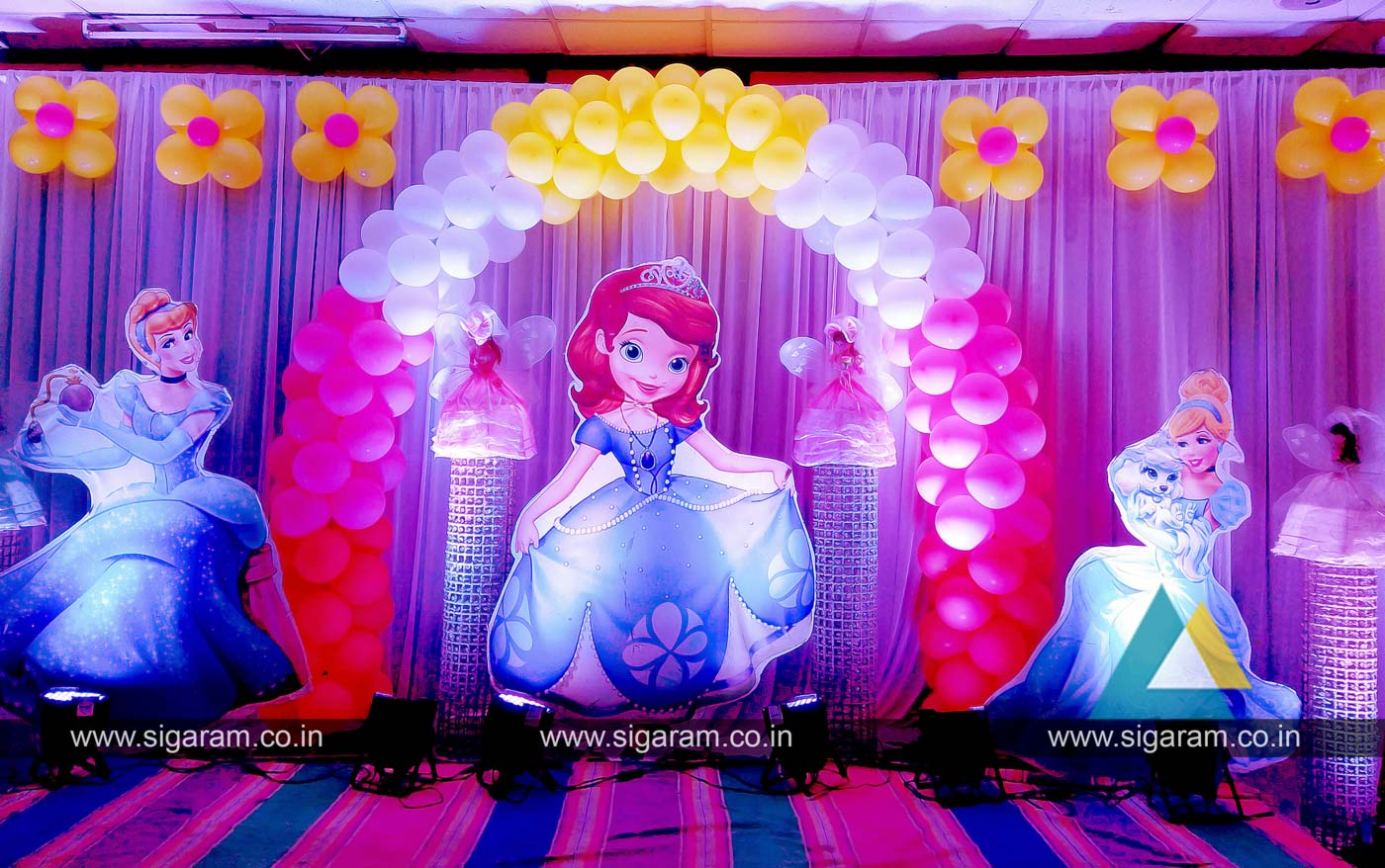 Cinderella princess themed birthday party balloon for Balloon decoration in coimbatore