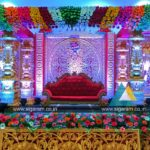 Wedding and Reception Stage decoration at NT Mahal, 100ft road, Pondicherry