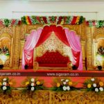 Reception stage decoration done at Anthoniyar Mahal (St Antony's Mahal), Pondicherry