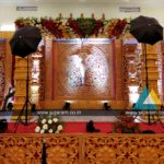 Reception and wedding stage decoration at Thavamani Mandapam, Kalapet, Puducherry
