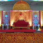 Reception stage decoration done at Thamizh Thirumana Maligai, Puducherry