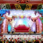 Wedding stage decoration done at Vel Sokkanathan Thirumanan Nilayam, Pondicherry