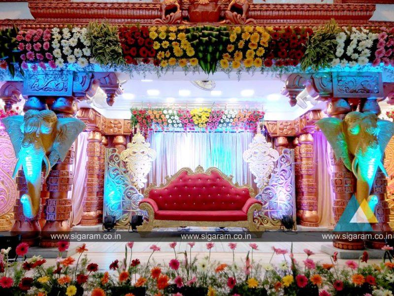 Wedding Stage Decoration Done At Vel Sokkanathan Thirumanan Nilayam