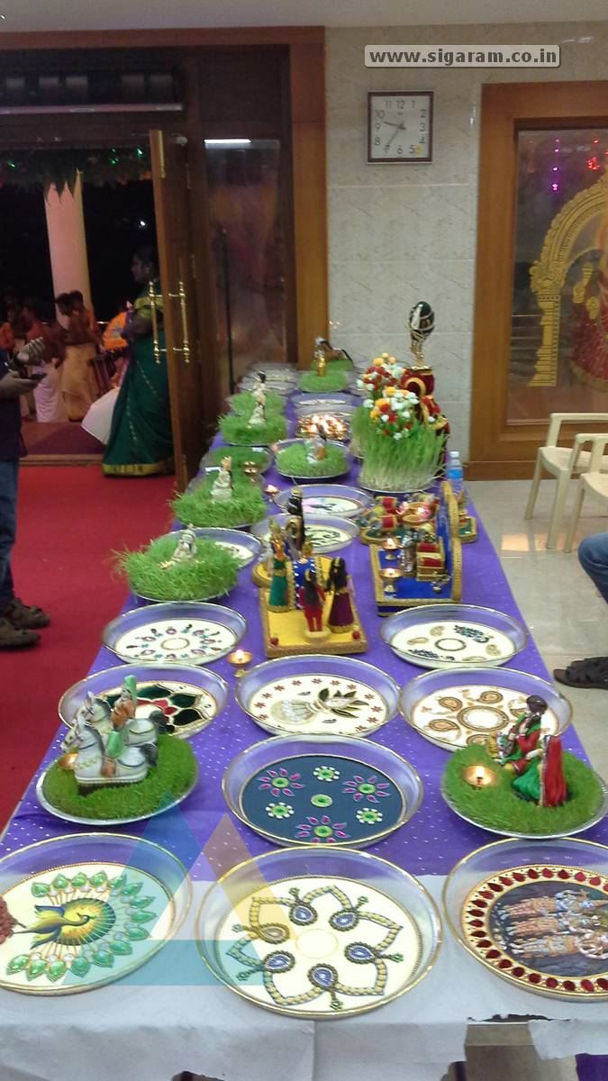 aarathi plate decoration from enagement wedding and