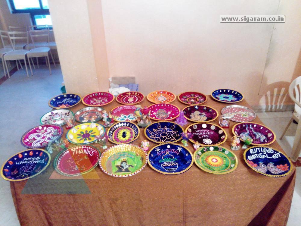 Aarathi Plate Decoration From Enagement Wedding And Reception At