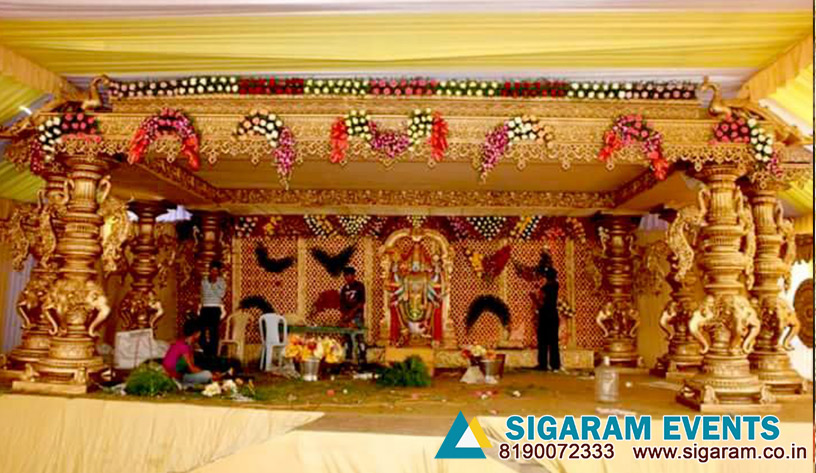 Marriage Mandapam Flower Decoration Wedding Decorators In