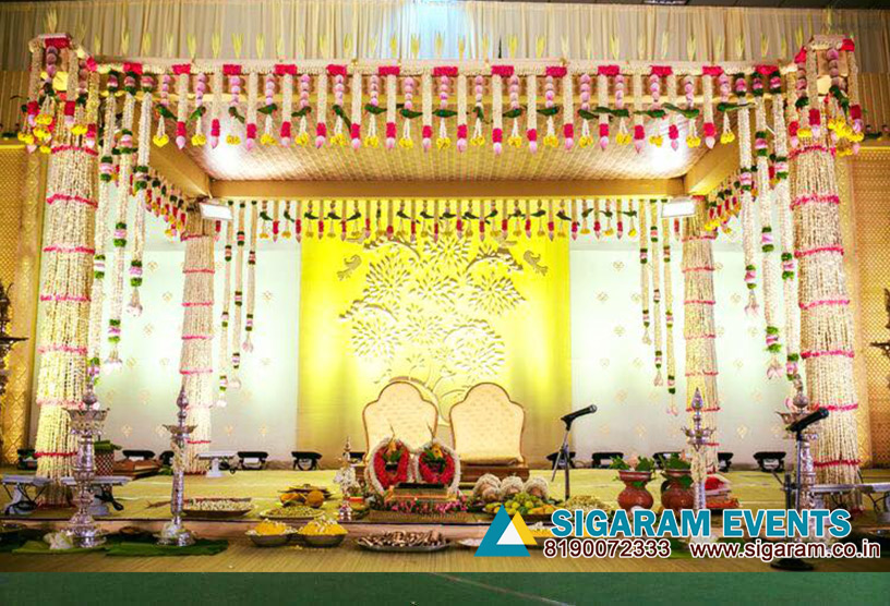 Marriage Mandapam Flower Decoration Wedding Decorators In