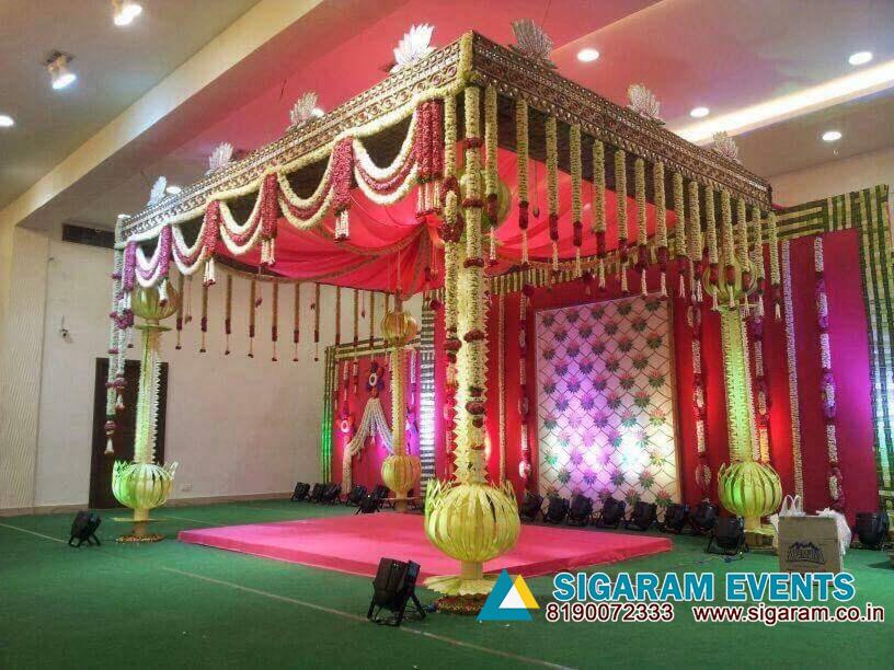 Marriage mandapam flower decoration wedding decorators in wedding stage flower decoration pondicherry chennai cuddalore tamilnadu junglespirit Choice Image