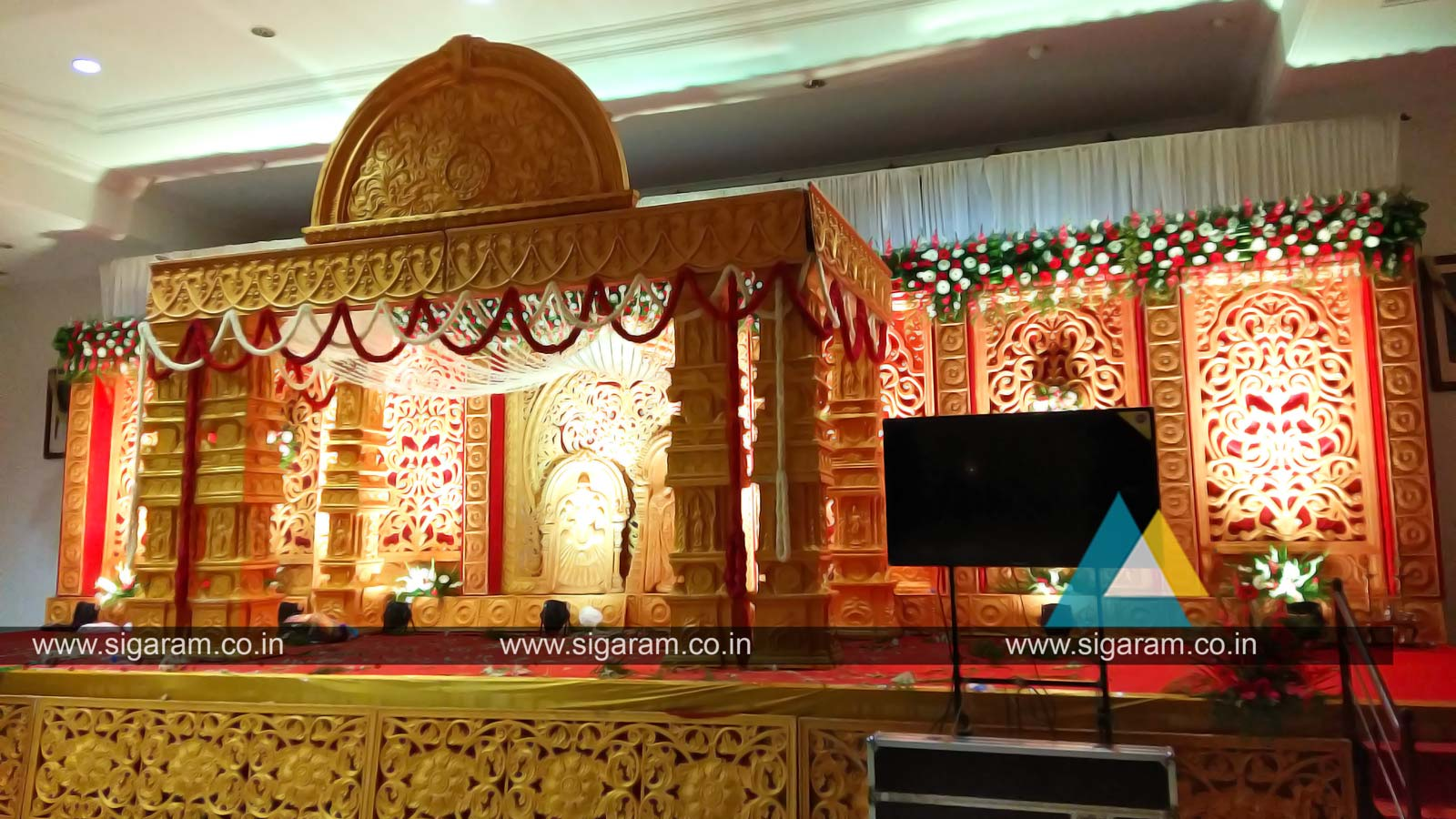 Marriage mandapam flower decoration wedding decorators for 7p decoration