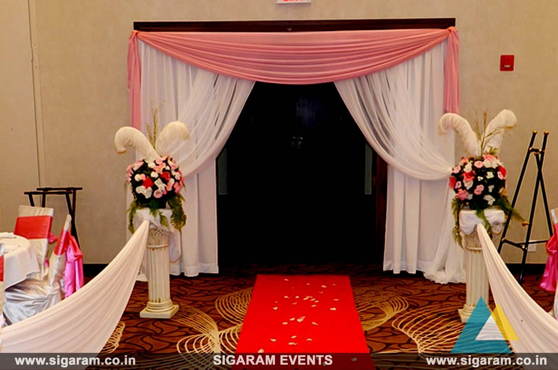 Door Entrance Wedding Reception Entrance Decoration Ideas