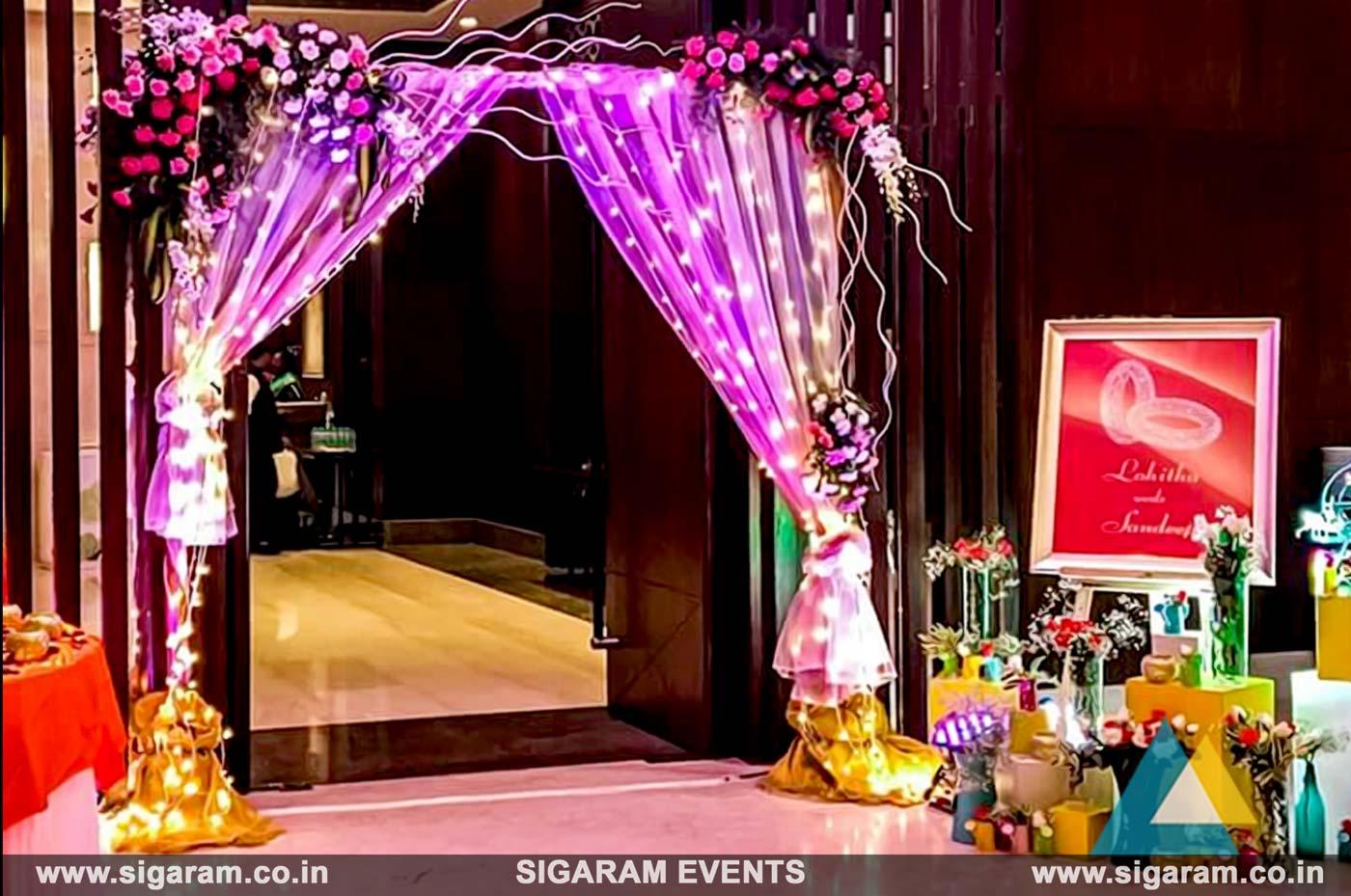 Wedding And Reception Door Entrance Decorations In Pondicherry