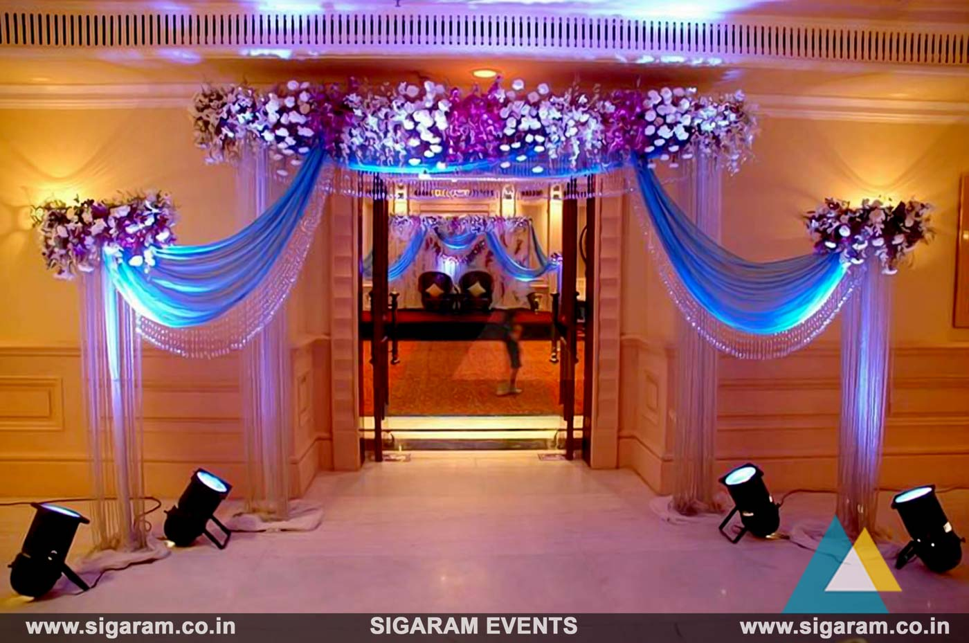 Wedding And Reception Door Entrance Decorations In Pondicherry