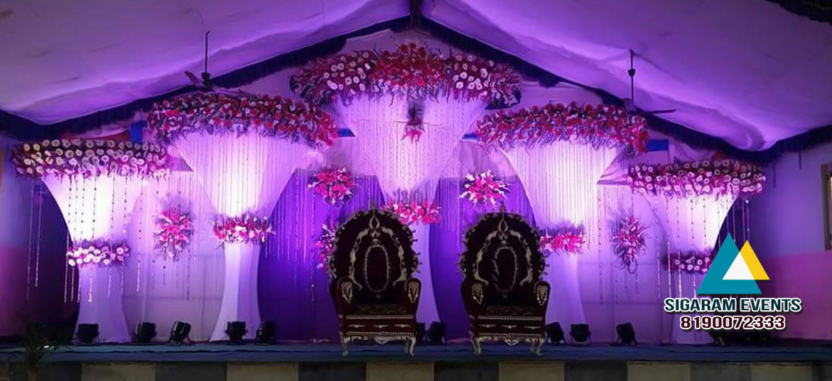 Wedding Reception Stage Flower Decoration 2 Sigaram