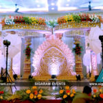 Wedding, Reception stage decoration at Anandha Thirumana Nilayam, Pondicherry