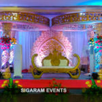 Reception stage decoration done at 24 Block Community Hall, Neyveli Township