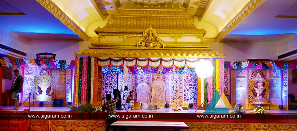Wedding Stage Decoration Jayaram Thirumana Nilayam Puducherry 171 Sigaram Wedding Decorators