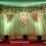 Engagement Stage Decoration at Bon Sejour Hotel, Pondicherry