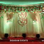 Engagement Stage Decoration at Bon Sejour Hotel, Pondicherry