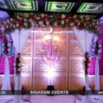 Engagement Stage Decoration at Jayaram Hotel, Pondicherry