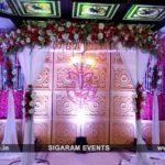 Engagement Stage Decoration at Jayaram Hotel, Pondicherry