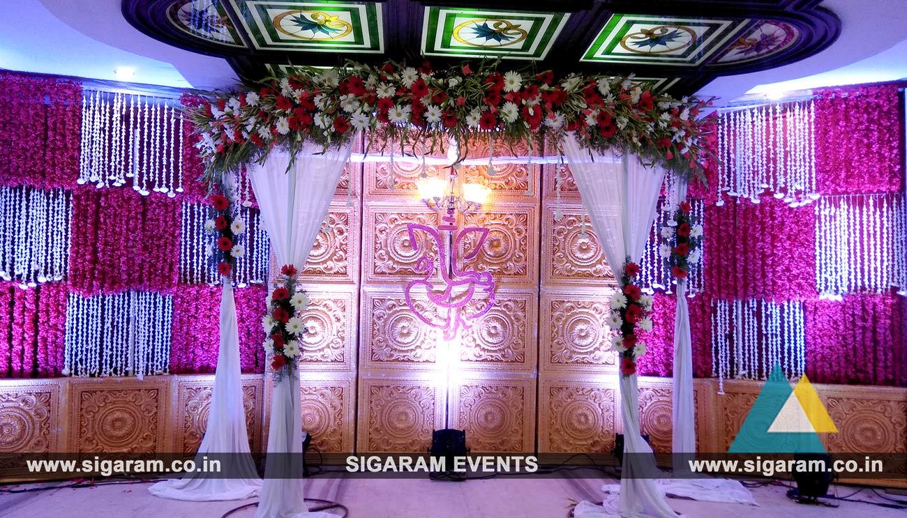 Engagement Stage Decoration At Jayaram Hotel Pondicherry Sigaram