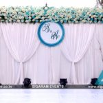 Outdoor Wedding Stage Decoration at RKN Beach Resort, Pondicherry
