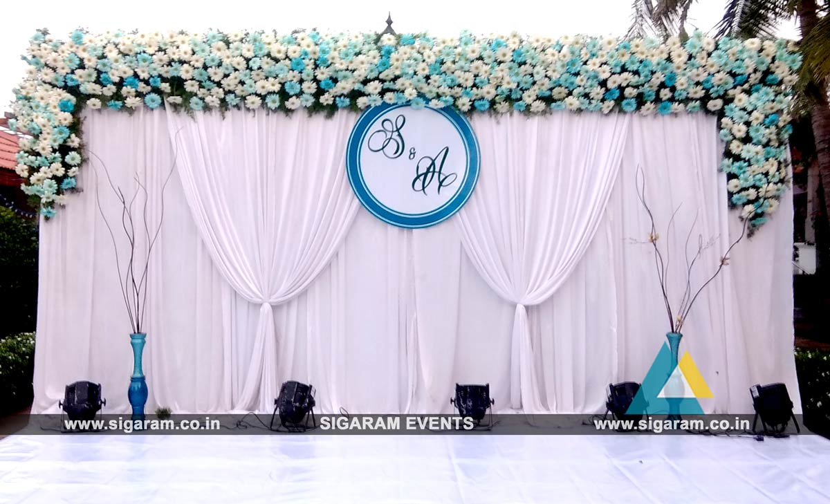 Outdoor wedding stage decoration at rkn beach resort pondicherry outdoor wedding stage decoration 1 junglespirit Choice Image