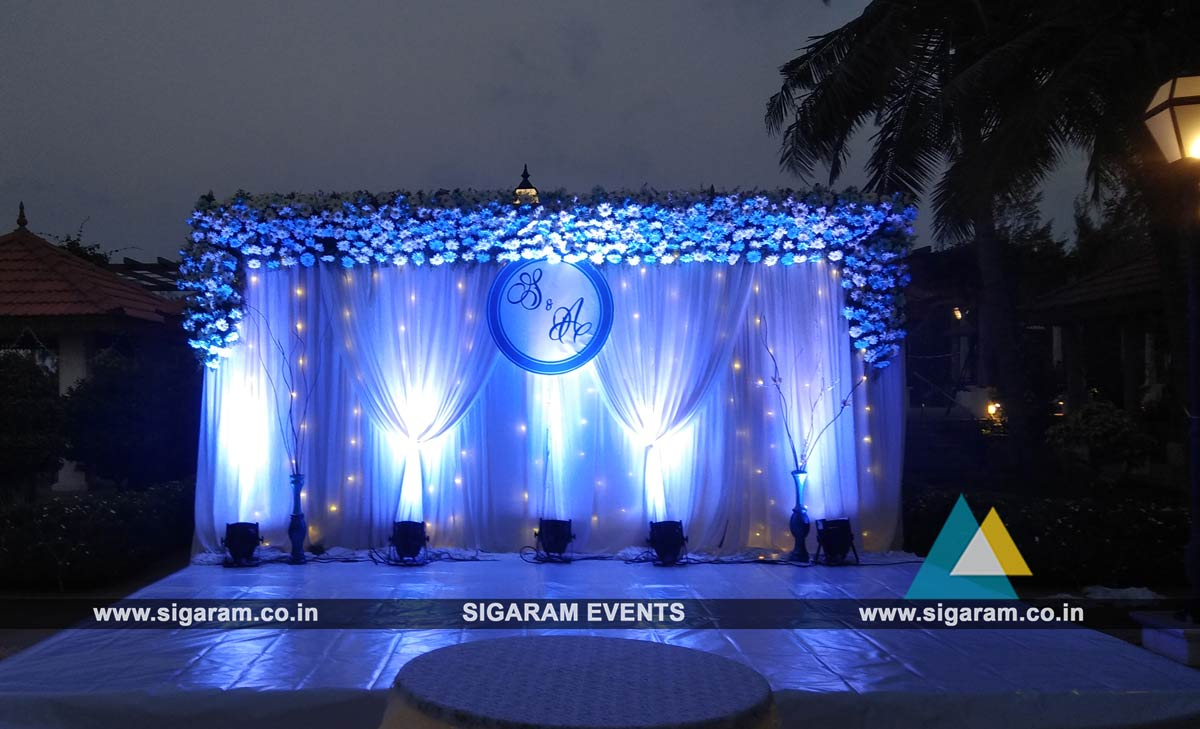 Outdoor wedding stage decoration at rkn beach resort pondicherry outdoor wedding stage decoration 2 junglespirit Choice Image