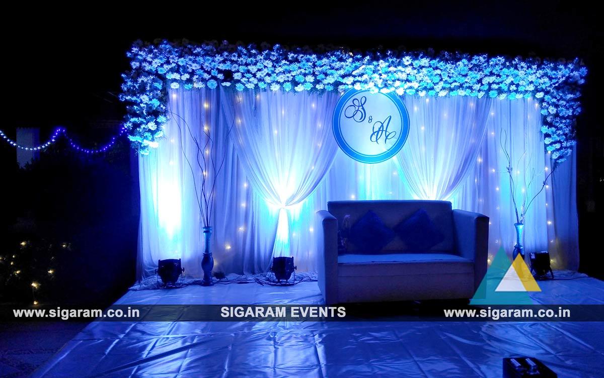 Outdoor wedding stage decoration at rkn beach resort pondicherry outdoor wedding stage decoration 5 junglespirit Gallery