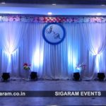 Wedding Reception stage decoration at HMK Mahal, Villupuram