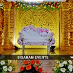 Reception stage decoration and Wedding Decoration at AVRK Mahal, Pondicherry