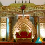 Wedding Reception stage decoration at Kandhan Mandapam, ECR, Pondicherry