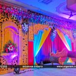 Wedding Reception stage decoration at Amma Thirumana Mandapam, Melmaruvathur